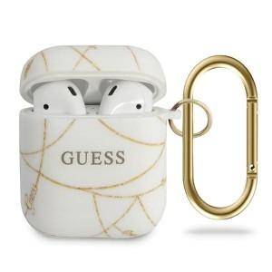 Guess AirPods 1 / 2 cover Chain Kollektion Goldkette GUACA2TPUCHWH Weiß Gold