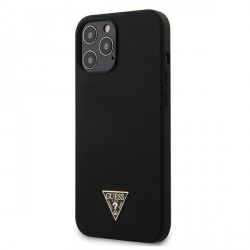 Guess iPhone 12 Pro Max Hülle / Cover / Case / Etui Silicone Triangle schwarz