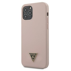 "Guess iPhone 12 Pro Max 6,7"" Hülle Silicone Triangle Rose GUHCP12LLSTMLP"