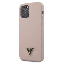 "Guess iPhone 12 / 12 Pro 6,1"" Hülle Silicone Triangle Rose GUHCP12MLSTMLP"