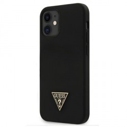 "Guess iPhone 12 mini 5,4"" Hülle Silicone Triangle schwarz GUHCP12SLSTMBK"