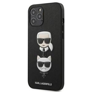 Karl Lagerfeld iPhone 12 Pro Max 6,7 Schutzhülle Ikonik Saffiano Karl & Choupette