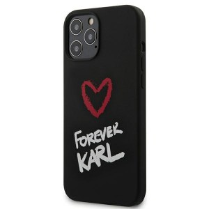Karl Lagerfeld iPhone 12 Pro Max Hülle / Cover / Case Silikon Forever Karl schwarz