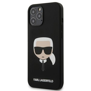 Karl Lagerfeld iPhone 12 Pro Max 6,7 Schutzhülle Silikon Head Schwarz