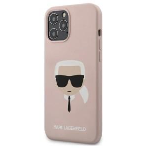 Karl Lagerfeld iPhone 12 Pro Max 6,7 Schutzhülle Silikon Head Rosa