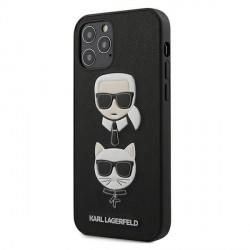Karl Lagerfeld iPhone 12 / 12 Pro 6,1 Schutzhülle Ikonik Saffiano Karl & Choupette