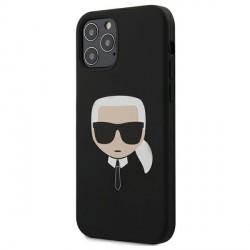 Karl Lagerfeld iPhone 12 / 12 Pro 6,1 Schutzhülle Silikon Head Schwarz