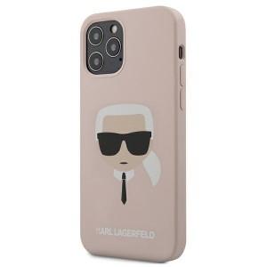 Karl Lagerfeld iPhone 12 / 12 Pro 6,1 Hülle Silikon Head rose KLHCP12MSLKHLP