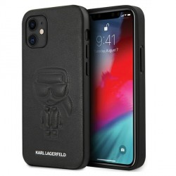 Karl Lagerfeld iPhone 12 mini 5,4 Hülle Ikonik Outline KLHCP12SPCUIKBK