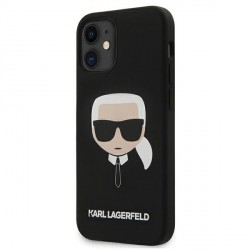 Karl Lagerfeld iPhone 12 mini 5,4 Schutzhülle Silikon Head Schwarz