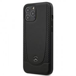 Mercedes iPhone 12 Pro Max Lederhülle / Cover / Case / Etui Urban Line schwarz