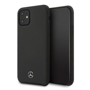 Mercedes iPhone 12 Pro Max Silicone Line Hülle / Cover / Case / Etui schwarz