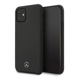 Mercedes iPhone 12 / 12 Pro 6,1 Silicone Line Hülle schwarz MEHCP12MSILBK