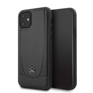 Mercedes iPhone 12 mini Lederhülle / Cover / Case / Etui Urban Line schwarz