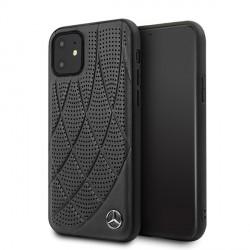 Mercedes iPhone 12 mini Lederhülle / Cover / Case / Etui Bow Line schwarz