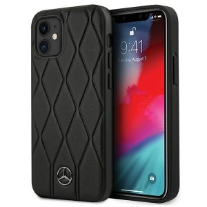 Mercedes iPhone 12 mini Hülle / Cover / Case / Etui Wave Line schwarz