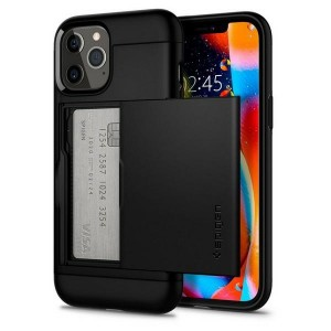Spigen iPhone 12 / 12 Pro 6.1 Hülle Slim Armor CS schwarz