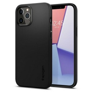 Spigen iPhone 12 / 12 Pro 6.1 Hülle Thin Fit schwarz