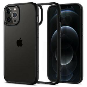 Spigen iPhone 12 / 12 Pro 6,1Ultra Hybrid Hülle schwarz matt