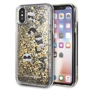 Karl Lagerfeld iPhone X / Xs Case / Hülle / Cover Glitter Charms Gold KLHCPXROGO