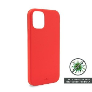 Puro iPhone 12 / 12 Pro 6,1 ICON AntiMicrobial Cover / Hülle / Case Rot