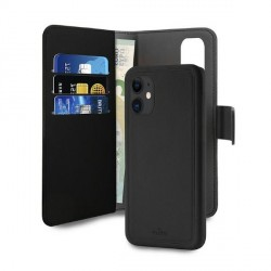Puro iPhone 12 mini 5,4 Wallet Book Tasche + Hülle 2in1 Schwarz