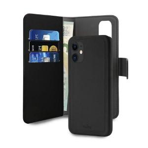 Puro iPhone 12 mini 5,4 Wallet Book Tasche + Hülle 2in1 Schwarz