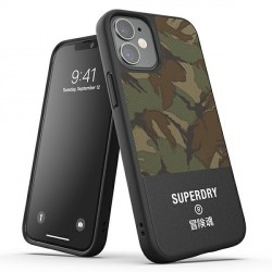 SuperDry iPhone 12 mini 5,4 Moulded Canvas Case / Hülle / Cover camo