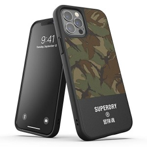 SuperDry iPhone 12 Pro Max 6,7 Moulded Canvas Case / Hülle / Cover camo