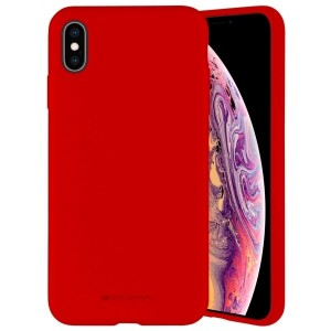 Mercury iPhone 12 mini 5,4 Hülle / Case / Cover Silicone Mikrofaser rot