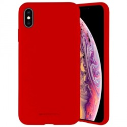 Mercury iPhone 12 Pro Max 6,7 Hülle / Case / Cover Silicone Mikrofaser rot