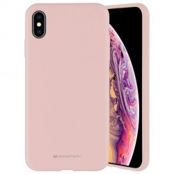 Mercury iPhone 12 / 12 Pro 6,1 Hülle / Case / Cover Silicone Mikrofaser rose