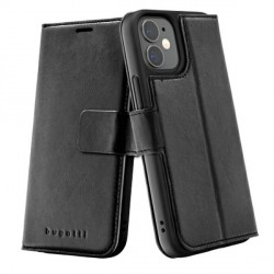 Bugatti iPhone 12 mini 5,4 Ledertasche / Book Cover Zurigo schwarz