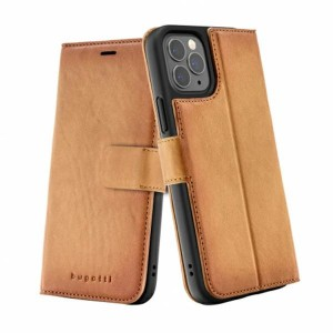Bugatti iPhone 12 / 12 Pro 6,1 Ledertasche / Book Cover Zurigo braun