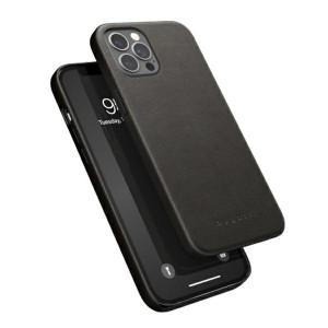 Bugatti iPhone 12 Pro Max 6,7 Porto Full Wrap Ledercover schwarz