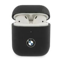BMW AirPods 1 / 2 Echtleder Cover / Case / Hülle schwarz