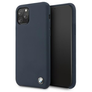 BMW iPhone 11 Pro Silicone Signature Hülle navy BMHCN58SILNA