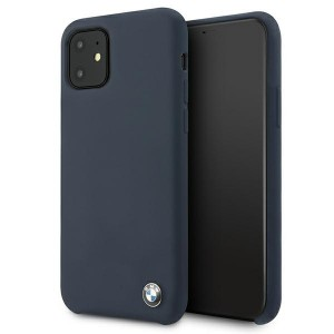 BMW iPhone 11 Silicone Signature Hülle navy BMHCN61SILNA