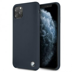 BMW iPhone 11 Pro Max Silicone Signature Hülle navy BMHCN65SILNA