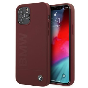 BMW iPhone 12 Pro Max 6,7 Silicone Signature Hülle Rot BMHCP12LSLBLRE