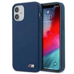 BMW iPhone 12 / 12 Pro 6,1 Silicone M Hülle blau BMHCP12MMSILNA