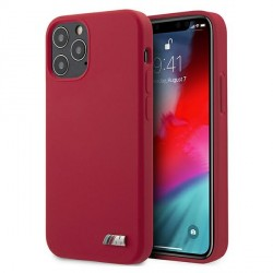BMW iPhone 12 / 12 Pro 6,1 Silicone M Hülle Rot BMHCP12MMSILRE