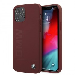 BMW iPhone 12 / 12 Pro 6,1 Silicone Signature Hülle Rot BMHCP12MSLBLRE