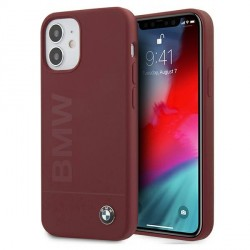 BMW iPhone 12 mini 5,4 Silicone Signature Hülle Rot BMHCP12SSLBLRE