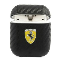 Ferrari AirPods 1 / 2 On Track Carbon Cover / Case / Hülle schwarz
