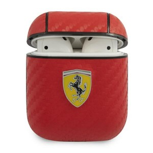 Ferrari AirPods 1 / 2 On Track Carbon cover Rot FESA2CARE