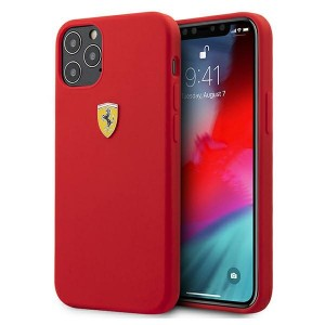 Ferrari iPhone 12 / 12 Pro 6, On Track Silicone Hülle Rot FESSIHCP12MRE
