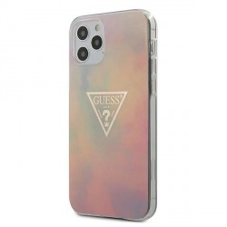 Guess iPhone 12 Pro Max 6,7 Hülle Tie & Die Collection Pink GUHCP12LPCUMCGG01