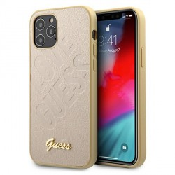 GUESS iPhone 12 Pro Max 6,7 Hülle Script Love gold GUHCP12LPUILGLG