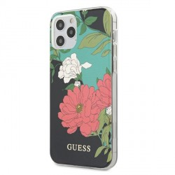 Guess iPhone 12 / 12 Pro 6,1 Hülle N1 Flower Collection GUHCP12MIMLFL01